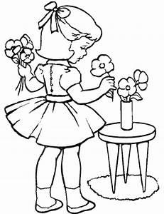 Fr, U00fchlingsblumen, Ausmalbilder