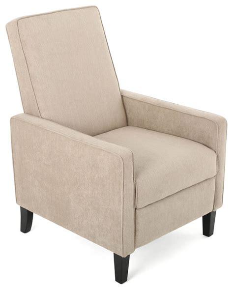 Lindqvist Contemporary Beige Fabric Slim Recliner Chair