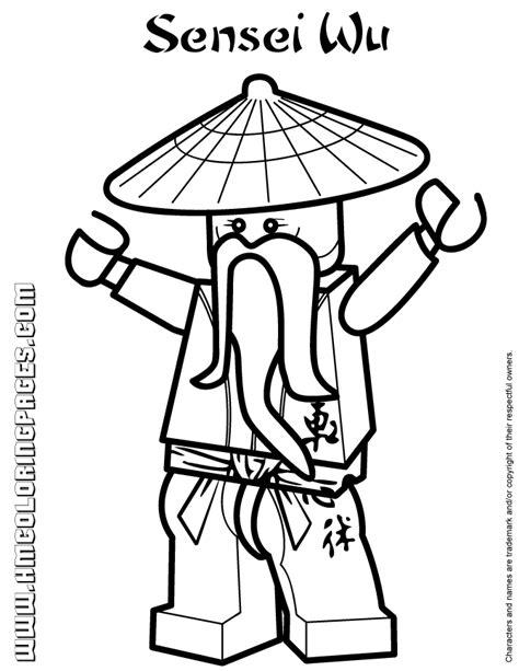 ninjago sensei wu coloring page   coloring pages
