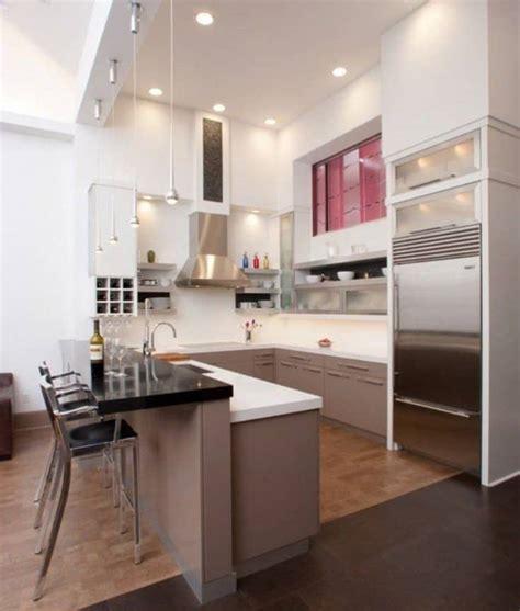 shaped kitchen design decoration ideas