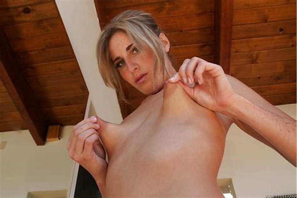 #Blonde #Chick #With #Really #Small #Breasts #Pinches #Her #Long
