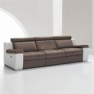 canape cuir bicolore relax massant chauffant absolut With canapé bicolore cuir