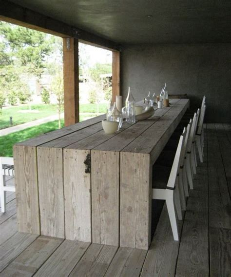 diy outdoor dining table projects house recycled wood