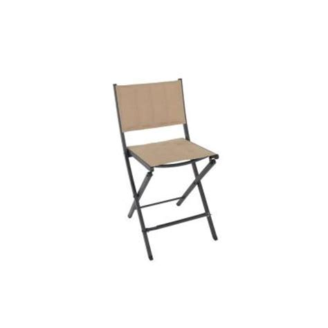 Folding Patio Chairs Home Depot by Martha Stewart Living Franklin Park Brown Padded Folding