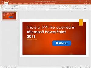 PPT File Extension
