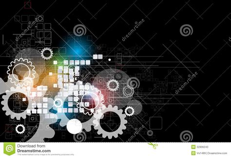 abstract retro digital computer technology business