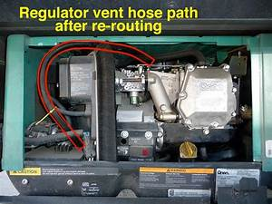Cleaning Out The Regulator Vent Hose On Your Rv U0026 39 S Onan Microquiet 3600lp Generator May Solve