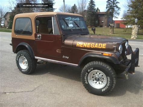 jeep cj renegade sport utility  door