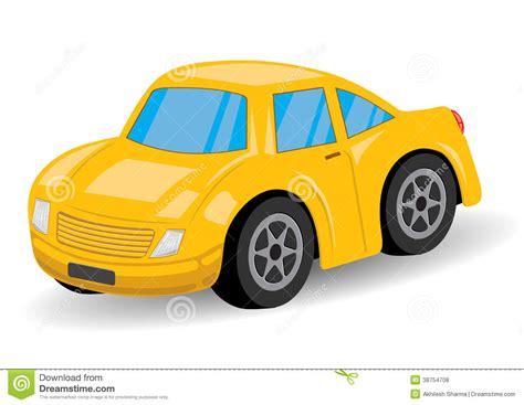 yellow sports car cartoon vector royalty  stock