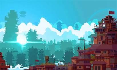 Pixel Landscape Inspiration Backgrounds Progress 2d 8bit