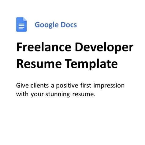 Google Docs Resume Freelancer | Finxter