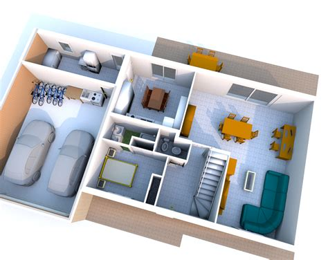 plan appartement 2 chambres plan maison 3d endroits à visiter 3d