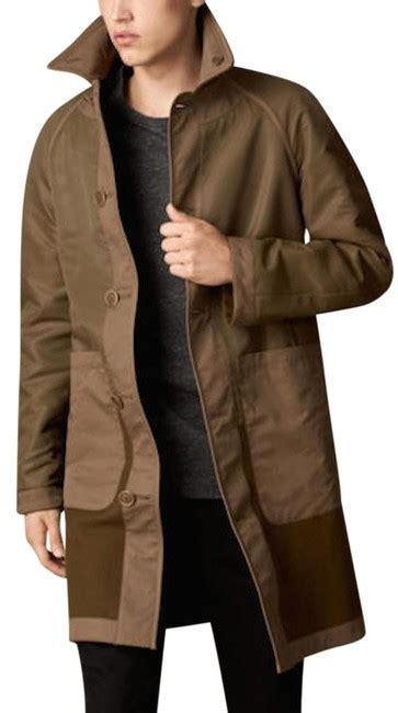 burberry military khaki mens reversible contrast caban