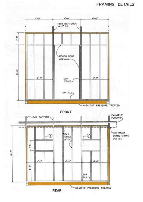 8 X 10 Slant Roof Shed Plans by 10 215 12 Lean To Storage Shed Plans Building Shed