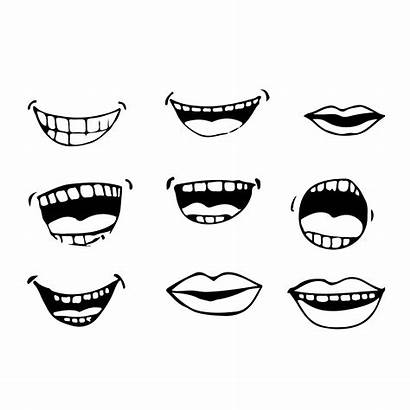 Cartoon Vector Mouth Icon Clipart Vectors Background