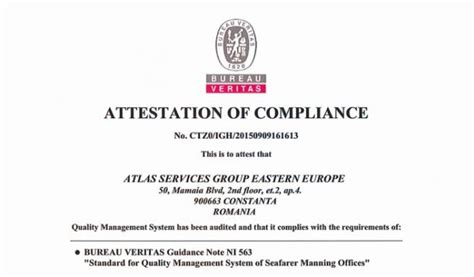bureau veritas mumbai office bureau veritas awards attestation to atlas offices