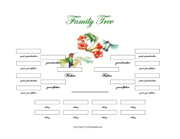Family Tree Templates With Siblings by 4 Generation Family Tree With Siblings Template