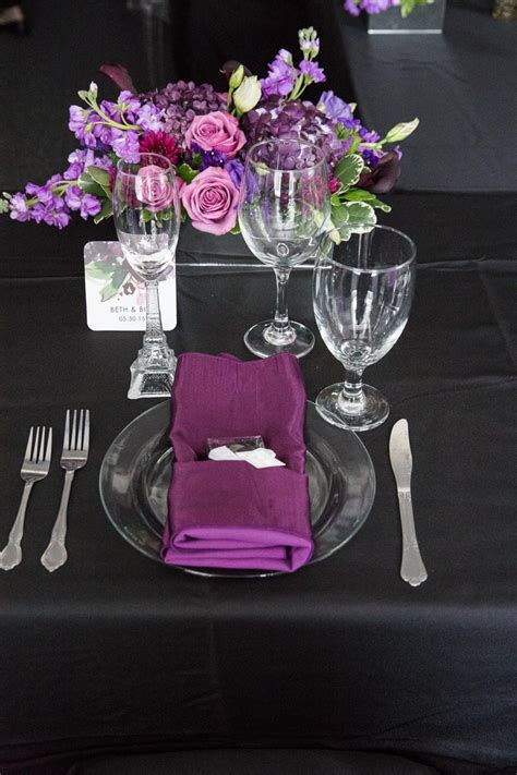 purple and black table settings black and pink wedding table settings www pixshark com images galleries with a bite