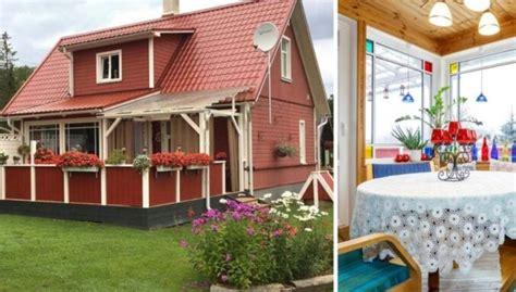 Lauku mājas etalons: košiem akcentiem bagātais namiņš ...