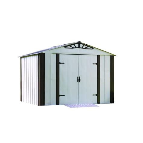 Metal Storage Shed Home Depot by Arrow Arrow Designer Series Steel Shed 10 Ft X 8 Ft