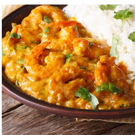 recette curry de grosses crevettes aux mirabelles