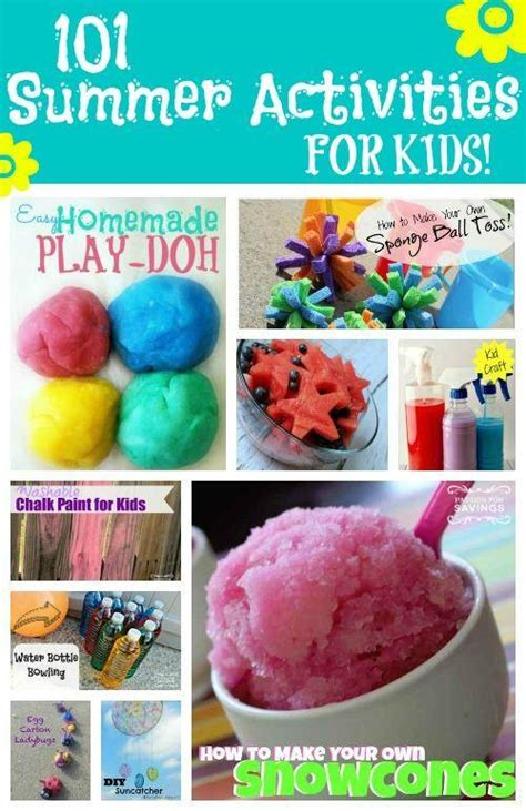 101 Summer Activities For Kids  Kids Crafts And Kids Recipes