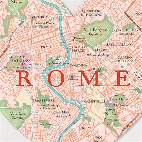 map  rome  major places sights