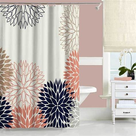 coral colored shower curtain best 25 coral curtains ideas on gray coral