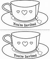 Coloring Beker Dia Getcolorings Kiddicolour Drinkbeker Teacups sketch template