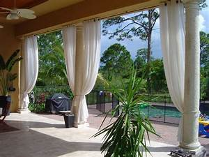 Outdoor curtains project miami fl for Outdoor balcony curtains