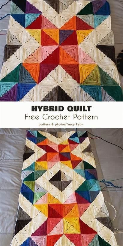 Crochet Quilt Pattern Afghans Patterns Blanket Amazing