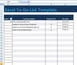 To Do Excel Template Get To Do List Template Excel Xls Microsoft Excel Templates