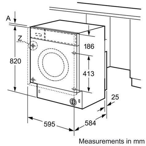 washer dryer sizes bosch wkd28540gb logixx fully integrated washer dryer