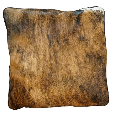 Brindle Cowhide Pillows - cowhide square pillow brindle