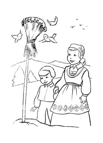 christmas  norway coloring page  printable coloring pages