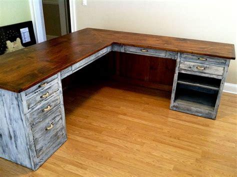 L Shaped Computer Desk Plans by Best 25 Rustic Desk Ideas On Diy Wooden Desk