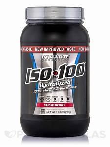 Iso-100 U00ae Hydrolyzed 100  Whey Protein Isolate  Strawberry Flavor