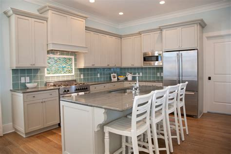 beach house kitchen cabinets sea glass design kitchen beach style with gray countertop