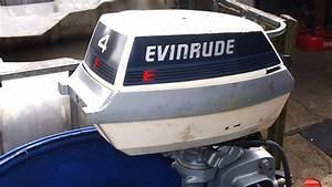 1985 Evinrude 4 Hp Outboard Motor 2 Stroke  Dwusuw
