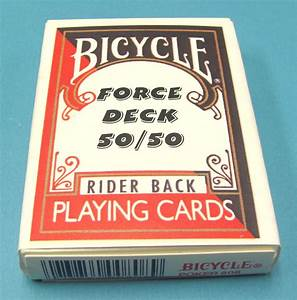 50, 50, Force, Deck, U2013, Bicycle, Red, Backs, King, Of, Clubs