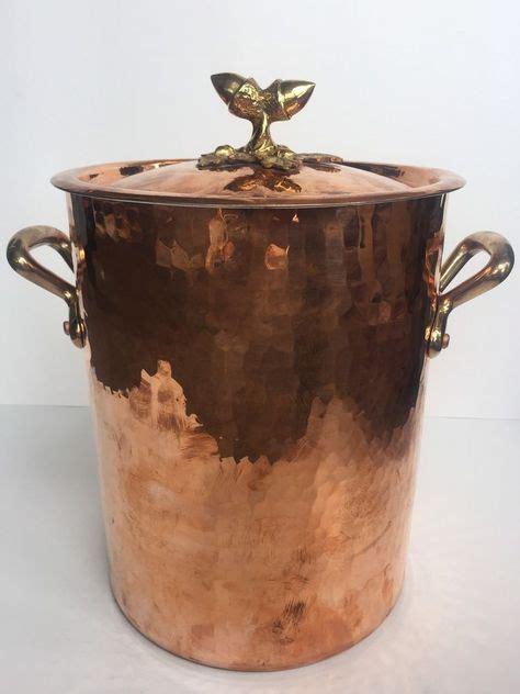 mauviel  williams sonoma france hammered  copper stockpot  ruffoni lid mauvielruffoni