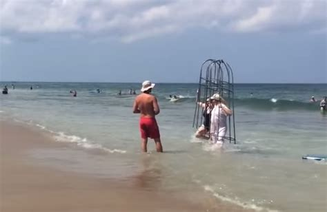 video couple denied chance  test homemade shark cages