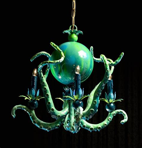 octopus chandelier for octopus chandeliers 20 000 leagues the ceiling