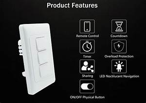 Zemismart Us Wifi Wall Push Light Switch Alexa Google Home