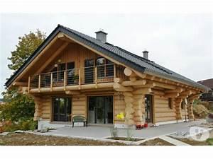 chalet fuste rondin wwwmaisonboiskitsfr With prix construction maison en rondin de bois