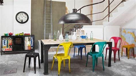 chaise industrielle maison du monde chaise et tabouret au style industriel