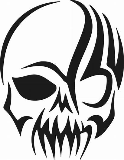 Tribal Skull Head Vector Graphic Pixabay
