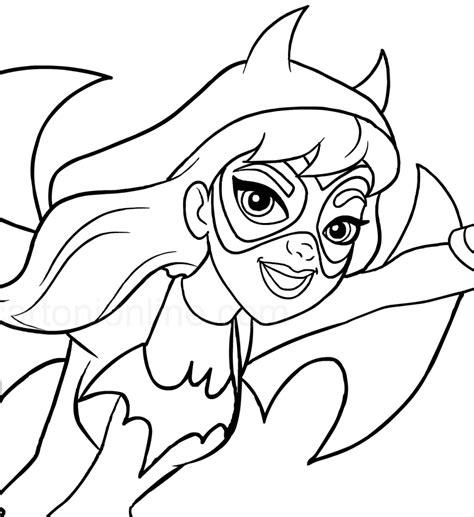 batgirl   foreground dc superhero girls coloring page