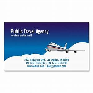 Pilot or travel agency business card business card for Travel agent business card samples