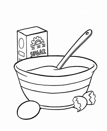 Coloring Cake Mixing Bowl Pages Printable Birthday